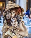 Lasowy przebranie - Wenecja karnawał 2014 obraz stock