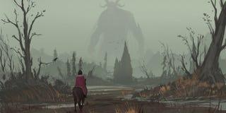 Lasowy Realistyczny styl Gra Wideo Cyfrowego CG grafika ilustracji