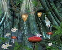 lasowy środkowy sekret ilustracja wektor