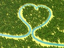 lasowy serce Zdjęcia Royalty Free