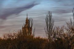 Lasowy wierza Burgo de Osma, Hiszpania obraz stock