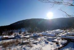 lasowych szczytów śnieżny grodzki bliźniaczy xuexiang Fotografia Stock