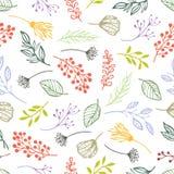 Lasowych ziele bezszwowy tło royalty ilustracja