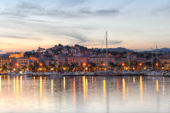 LaSpezia port, Cinque Terre, Italien Arkivfoton