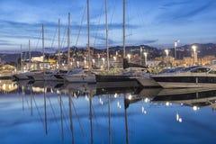 LaSpezia port, Cinque Terre, Italien Arkivbilder