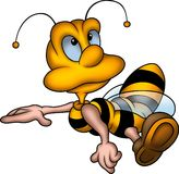 Lass little wasp. Little Bee 16 - High detailed and coloured illustration - Lass little wasp vector illustration