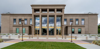 Lassen County domstolsbyggnad i Susanville, Kalifornien Royaltyfria Bilder