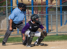 Lassen High Baseball Catcher Royalty Free Stock Images