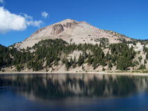 Lassen Peak. Mount Lassen, dormant volcano, beside Lake Helen at Lassen Volcanic National Park Royalty Free Stock Photo