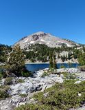 Lassen Peak. Centerpiece of Lassen Volcanic National Park Royalty Free Stock Photography
