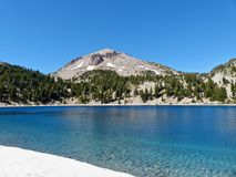 Lassen Peak, Lake Helen. Lassen Peak towers over Lake Helen in Lassen Volcanic National Park royalty free stock image