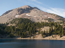 Lassen Peak in Lassen Volcanic National Park Royalty Free Stock Photos