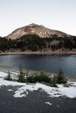 Lassen Peak National Volcanic Park Lake Helen Sunset Royalty Free Stock Images