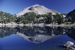 Lassen Peak in northern California Stock Image