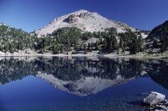 Lassen Peak in northern California stock image