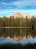 Lassen peak from Summit lake Stock Images