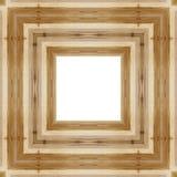 Lassen Sie den alten hölzernen Rahmen in einem weißen Hintergrund mit Raum für Text Stockfoto