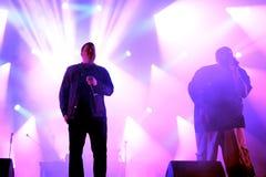 Lassen Sie die Juwelhip-hop-Band im Konzert an Primavera-Ton-Festival 2015 laufen Stockfotografie