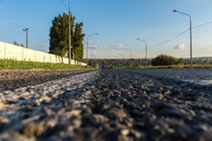 Lassen Sie die Länge von szenischen Spuren im Land Stockfotos