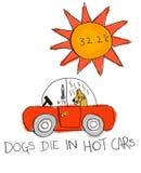 Lassen Sie ein Tier allein nicht im Auto Stockbild