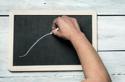 Lassen Sie eine Mitteilung, seien Sie kreativ lizenzfreies stockfoto