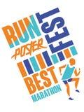 Lassen Sie Festplakat, Schablone für Sportereignis, Marathon, Meisterschaft laufen, kann für Karte, Fahne, Druck, Broschürenvekto stock abbildung