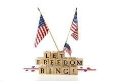 Lassen Sie Freiheits-Ring! Stockbilder