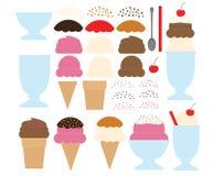 Lassen Sie Ihre eigene Eiscreme entwerfen stock abbildung