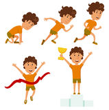 Lassen Sie Mann laufen Laufender Wettbewerb Stockfotografie