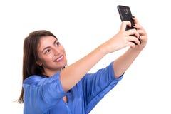 Lassen Sie mich ein Selfie nehmen! Stockbild