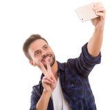 Lassen Sie mich ein Selfie nehmen! Stockfotografie
