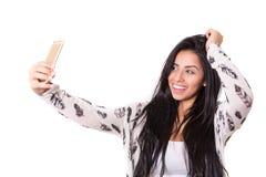 Lassen Sie mich ein Selfie nehmen! Lizenzfreie Stockfotos