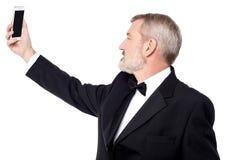 Lassen Sie uns ein selfie nehmen! Stockfotos