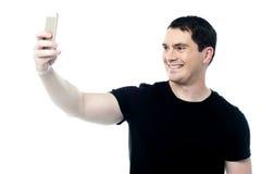 Lassen Sie uns ein selfie nehmen! Lizenzfreies Stockbild