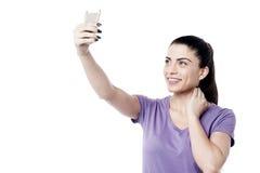 Lassen Sie uns ein selfie nehmen! Stockfoto