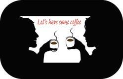 Lassen Sie uns etwas Kaffee trinken Stockbild