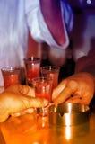 Lassen Sie uns etwas trinken! Stockbild