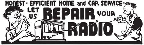 Lassen Sie uns Ihren Radio reparieren vektor abbildung