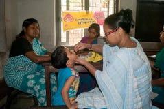 Lassen Sie uns Poliomyelitis ausrotten Stockfotos