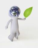 Lassen Sie uns um der Erde sich kümmern! Stockfotos