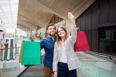 Lassen Sie uns unseres Einkaufens sich rühmen Lizenzfreies Stockfoto