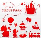Lassen Sie uns zum Zirkuspark gehen stock abbildung