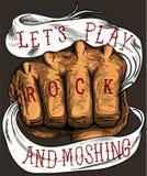 LASSEN SIE US-SPIEL-ROCK UND MOSHING Stockfoto