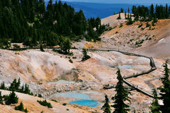 Lassen Volcanic National Park. Sulpher deposit Stock Photography