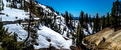 Lassen Volcanic National Park is in northern California, USA royalty free stock photography
