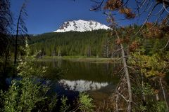 Lassen Volcanic Peak Stock Photos