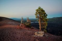 Lassen Volcano Cinder Cone stock afbeelding