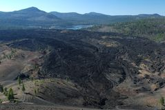 Lassen vulcânico, Califórnia, EUA Fotografia de Stock