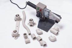 Lassenmachine voor polypropyleen stock afbeeldingen