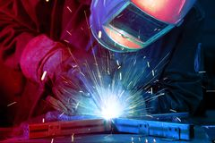 Lasser die technisch staal oprichten stock foto